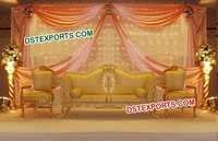 Latest Wedding Golden Stage Sofa Set