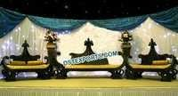 Asian Wedding Royal Black Furniture Antique