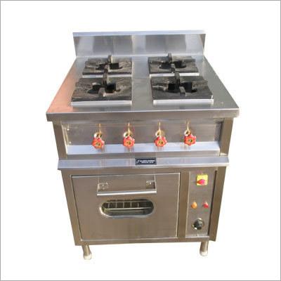 4 Burner Commercial Cooking Range