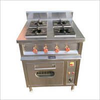 4 Burner Commercial Cooking Range