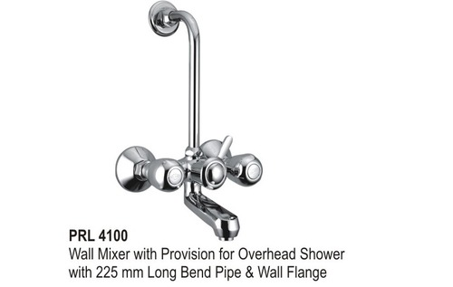 Wall Mixer with overhead shower