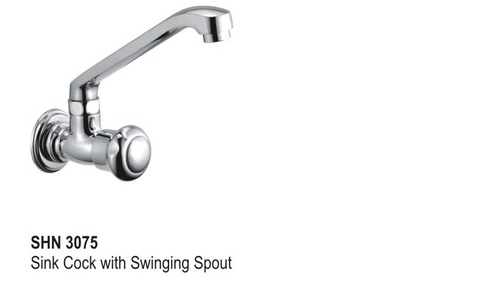 Sink Cock with Swinging Spout