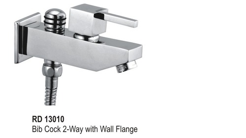 Bib Cock 2 -Way with Wall Flange