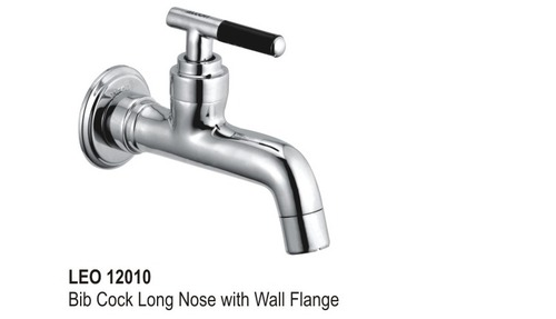 Bib Cock Long Nose with wall flange