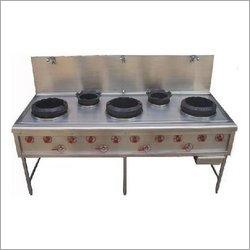 Five Burner Chinese Cooking Range