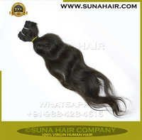 Indian Remy Natural Machine Weft Silky Curly Hair