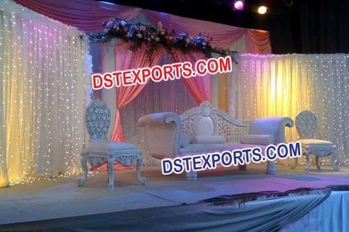 Asian Wedding Pearl White Furniture Set