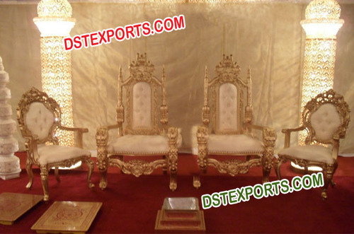 Asian Wedding Elegant Stage Chairs Set