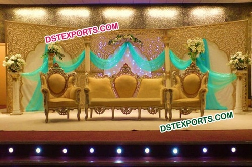 Asian Wedding Stylish wooden Carved Love Sofa Set