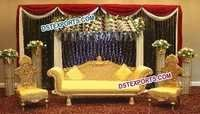 Royal Wedding Golden Carved Sofa Set