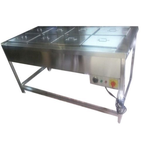 Hot Food Warmer (48X18X34) 4Nos. GN pans 12Ltrs