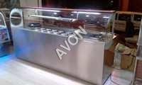 Hot food Warmer with burner range counter Display