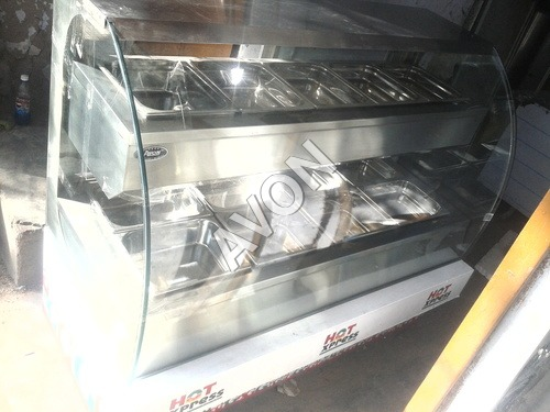 Hot food warmer with Bain Marie