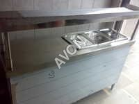 Hot Food Warmer with service counter