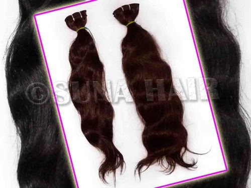 Peruvian body wavy natural virgin machine weft human hair extension