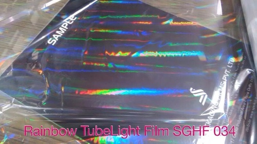 Transparent lamination grade polyester film holographic film