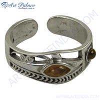 Latest Design Amethyst & Garnet Silver Ring