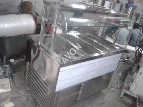 Refrigerated Plane Hot Chaat Counters