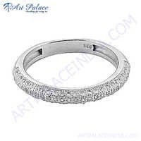 Fashionable Silver Round Ring