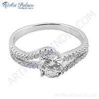 Stylish Gemstone Silver Charm