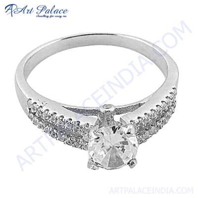 Designer Cubic Zirconia Silver Ring