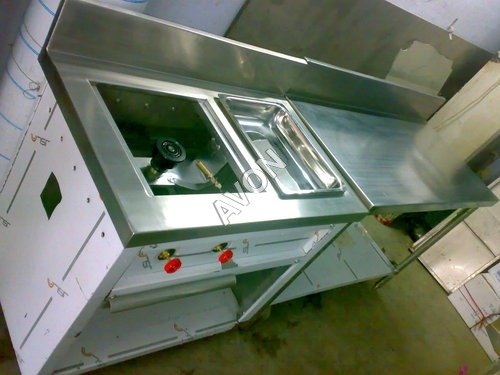 Single burner with dumb fat & Work Table