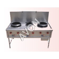 Three burner Chinese Range (60x30x34+18)