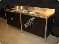 Commercial Sink with Cup Bord Cabinet (72x24x34+6)