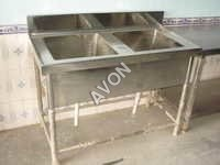 TWO SINK UNIT (48x24x34+6)