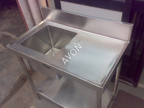 Single Sink with Table (48x24x34+6)