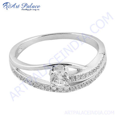 Silver Jewelry Diamond Ring