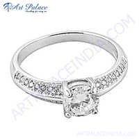 Stylish Cubic zirconia Silver Ring
