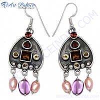 Indian Garnet Pink Pearl Jewelery