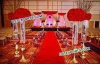 Wedding Crystal Aisle way Pillars