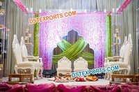 Indian Wedding Mandap Chairs Set