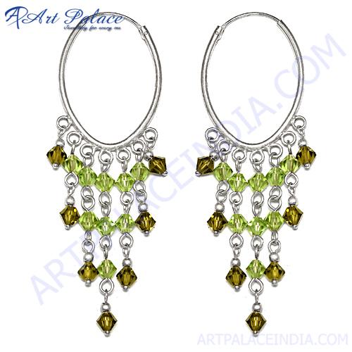 Indian Green Glass Round Shape Jewelery