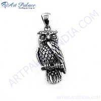 Silver Owl Pandant