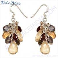 Designer Garnet Gemstone Silver Jewelry