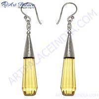 Stylish Lemon Quartz Gemstone Earring