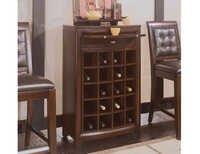 Dark Winerack Bar Cabinet