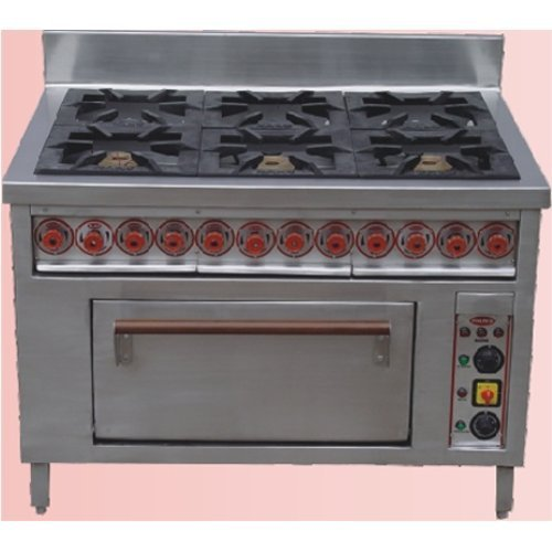 Six Burner Range with Oven