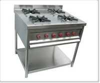 Four Burner Range with Under Shelf