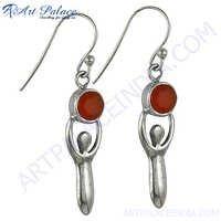 Party Wear Red Onyx Earrings
