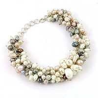 Pearl Stone Silver Bracelet