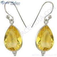 Pear Shape Gemstone Earrings