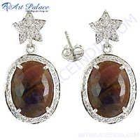 Designer Diamond Victorian Earrings