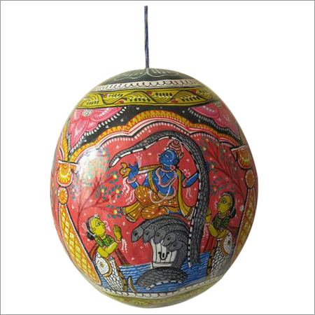 Patachitra Painted On Coconut