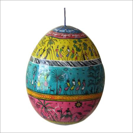 Saura Painting On Coconut