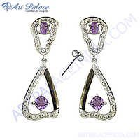 Fashion Designer Diamond Gemstone Earrings