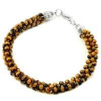 Tiger Eye SIlver Beads